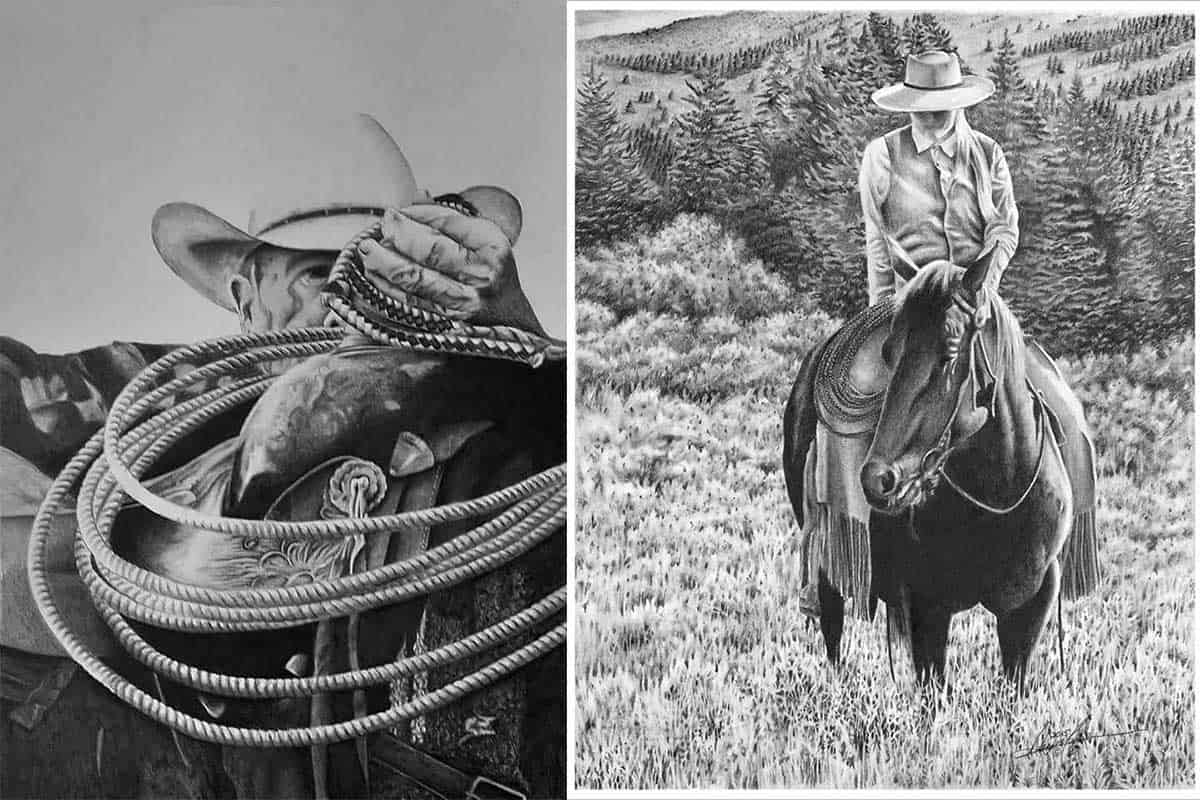 monson art painting drawing home decor cowgirl magazine