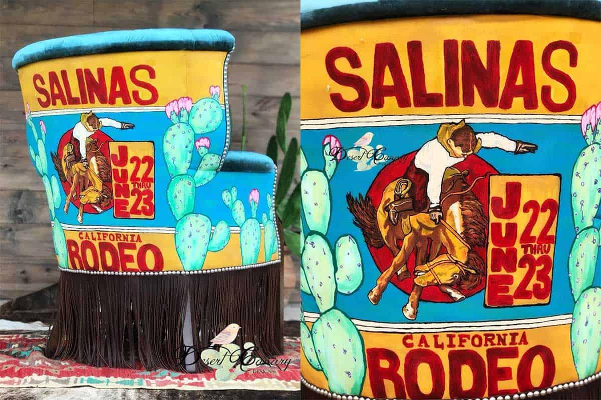 rodeo Salinas chair desert canary design carly Melancon cowgirl magazine